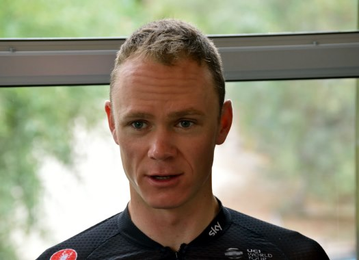 Chris Froome pulled off bike by French policeman