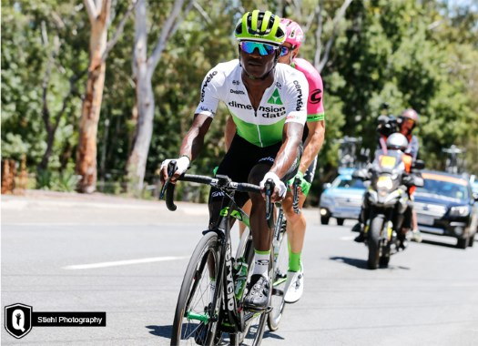 Nicholas Dlamini takes Tour Down Under Mountains Jersey on professional debut