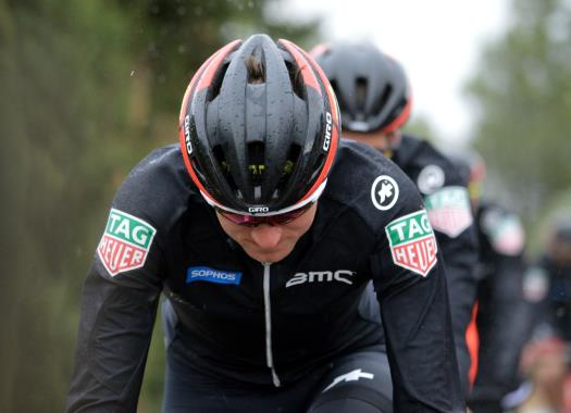 A crash against a car caused Tejay Van Garderen's withdrawal from Paris-Nice