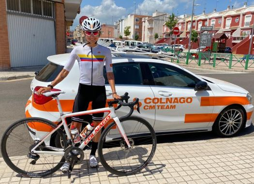 Catalina Gomez ready to show Colombian colours for the first time at Emakumeen Nafarroako Klasikoa